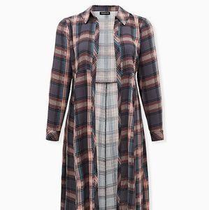🆕️ Plaid Duster Kimono Size 18/20